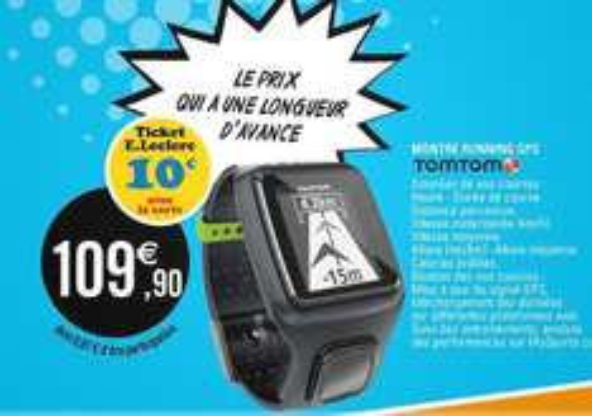 Montre TomTom Runner (10€ sur la carte)