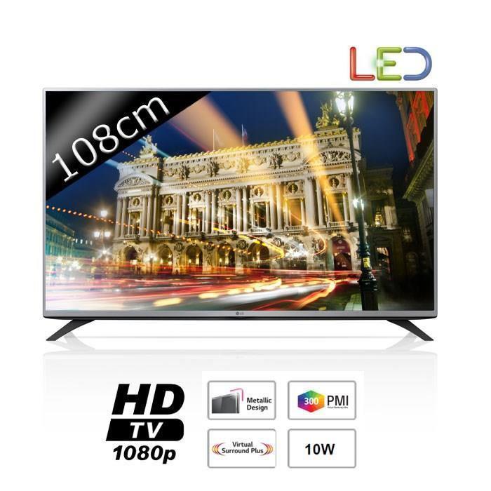 """TV 43"""" LG 43LF5400 LED Full HD 300Hz 108cm (avec ODR 50€)"""