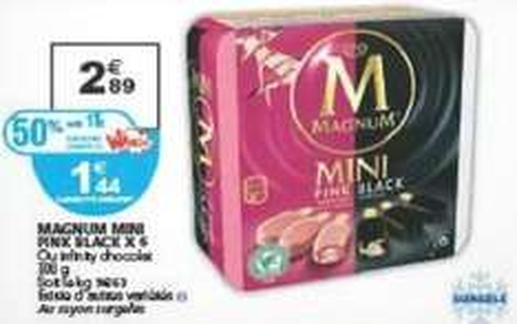 Boite de 6 Magnum Mini - Différentes variétés disponibles (via cagnotte fidélité de 1,45€ + BDR)