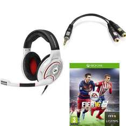 Micro-Casque Gaming Sennheiser G4ME One Blanc (câble fourni) + FIFA 16 (PS4, Xbox One ou PC)