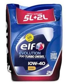 Bidon d'huile Elf 10W40 Essence ou Diesel 5L + 2L (avec 50% sur la carte)