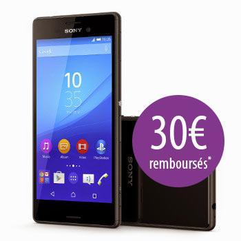 """Smartphone 5"""" Sony Xperia M4 Aqua + Bon d'achat de 50€ chez Adidas.fr (via ODR de 30€)"""