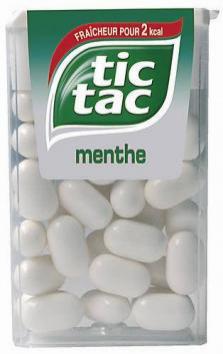 1€ remboursé un paquet Tic tac Menthe