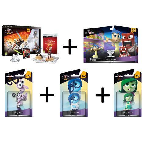 Disney Infinity 3.0 sur PS3 ou Wii U : Pack de démarrage  + Pack aventure + 3 figurines Vice et Versa