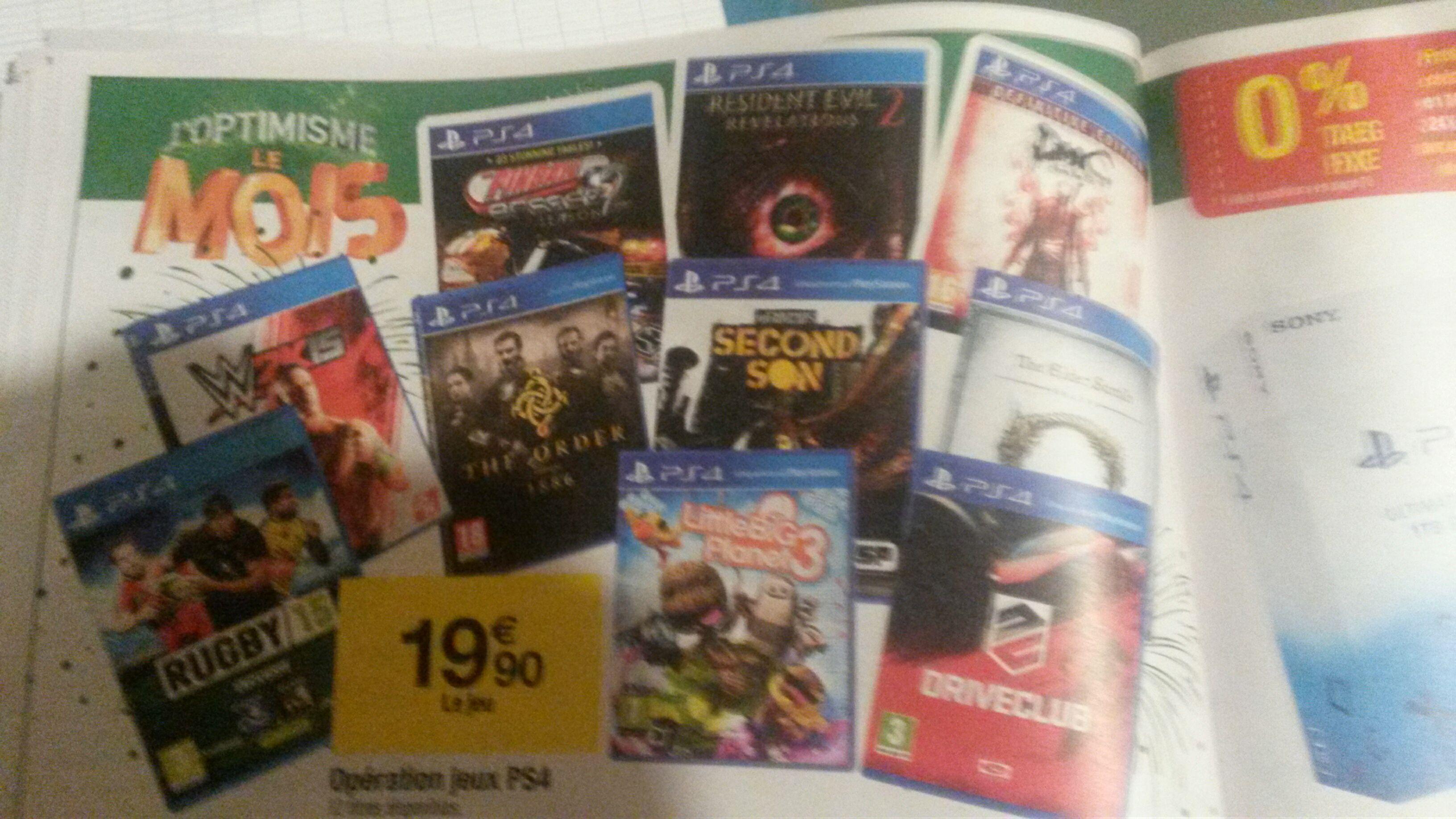 Sélection de jeux PS4