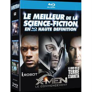 Coffret 3 Bluray : X-Men : Le commencement + I, Robot + Le jour où la terre s'arrêta