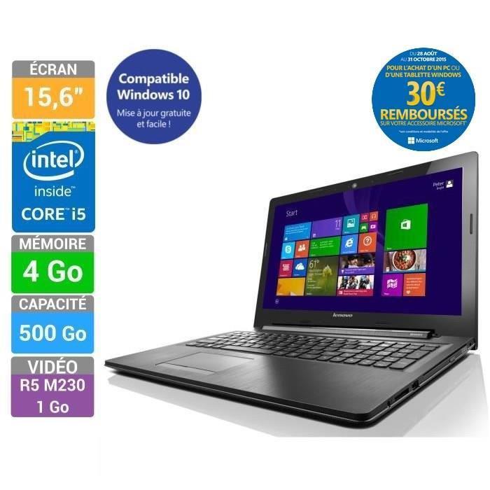 "PC portable 15,6"" Lenovo PC Portable Ideapad G50-70 (i5 4258U, Mémoire 4Go - Stockage 500Go - AMD Radeon R5 M230)"
