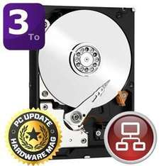 "Disque dur interne 3,5"" Western Digital Red Desktop 3 To - 64 Mo, SATA III (6 Gb/s) - reconditionné (garantie 1mois)"