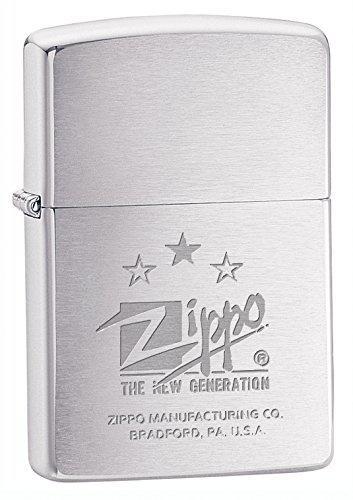 Briquet à Essence  Zippo 8105240 ZIP200 New Generation Métal Argent