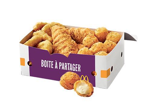 2 menu Maxi Best Of achetés via l'application mobile ou le site  = 1 boite (9 Cheese Balls, 6 Chicken McNuggets, 3 Chicken Sticks) Offerte