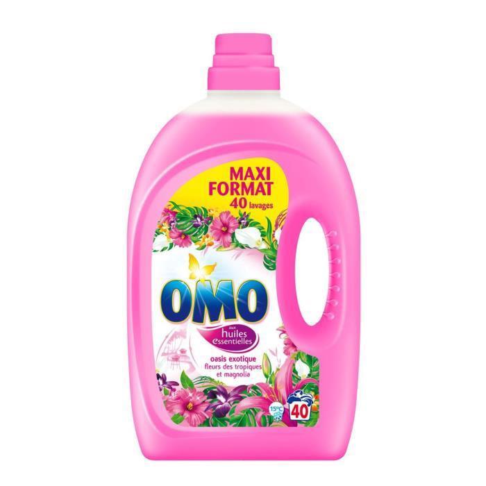 Lot de 2 bouteilles de lessive liquide Omo (BDR 2 €)