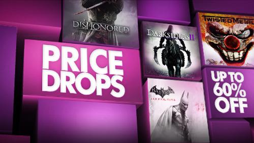 Darksiders 2 à 9.99€,  dishonored à 23.99€, sly trilogy à 9.99€, ...