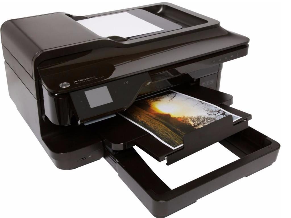 Imprimante 4 en 1 HP Officejet 7612 + Cartouche Kit photos HP N° 932 XL Noire (via odr de 50€)