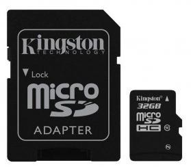 Carte microSDHC Kingston Classe 10 - 32 Go avec adaptateur