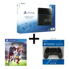 Console Sony PS4 1 To + FIFA 16 + 2ème Manette Dual Shock 4