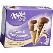Boites de 4 cônes glacés Milka (via 2.03€ fidélité + BDR)