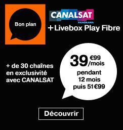 Livebox Play Fibre + Canalsat Panorama pendant 1 an