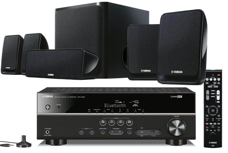 Kit Home Cinéma Yamaha YHT-2920 5.1 noir : Bluetooth, YPAO, ARC, 4K, HDCP 2.2, 3D