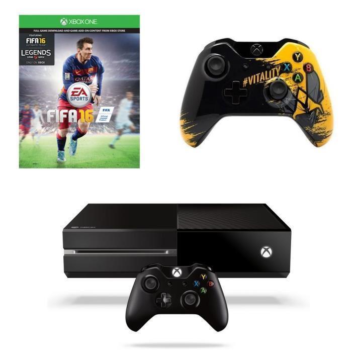 Console Xbox One 500 Go + Fifa 16 + 2ème manette (+ Abonnement Cdiscount à volonté remboursé et 100€ en 4 bons d'achat de 25€ offerts)