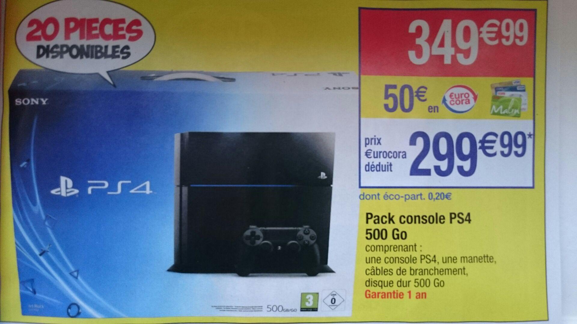 Console Sony PS4 500 Go (avec 50€ sur la carte)