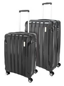Set de deux valises Roy Robson - Polypropylène noir - 78cm et 68cm, 94L