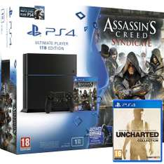 Console Sony PS4 1 To Noire + Assassin's Creed Syndicate + Watch Dogs + Uncharted Collection + Porte-clés anniversaire