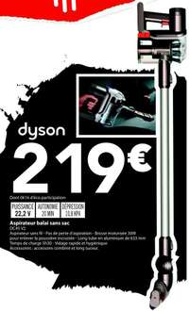 Aspirateur balai sans fil Dyson DC45 V2