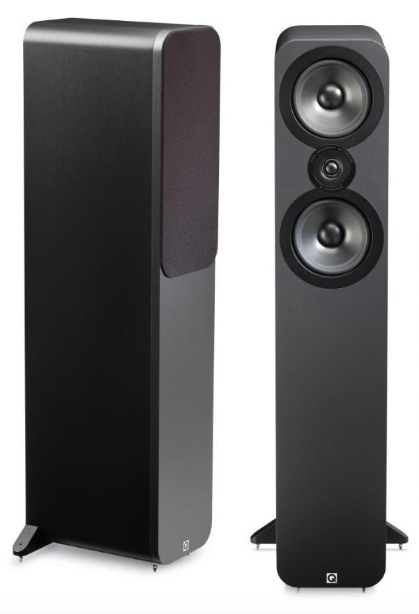 Paire d'enceintes colonnes Q Acoustics 3050 - Walnut ou Graphite