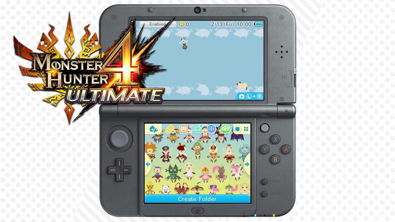 """Thème Monster Hunter 4 Ultimate """"Palicoes 4 Ever"""" pour Nintendo 3DS gratuit"""