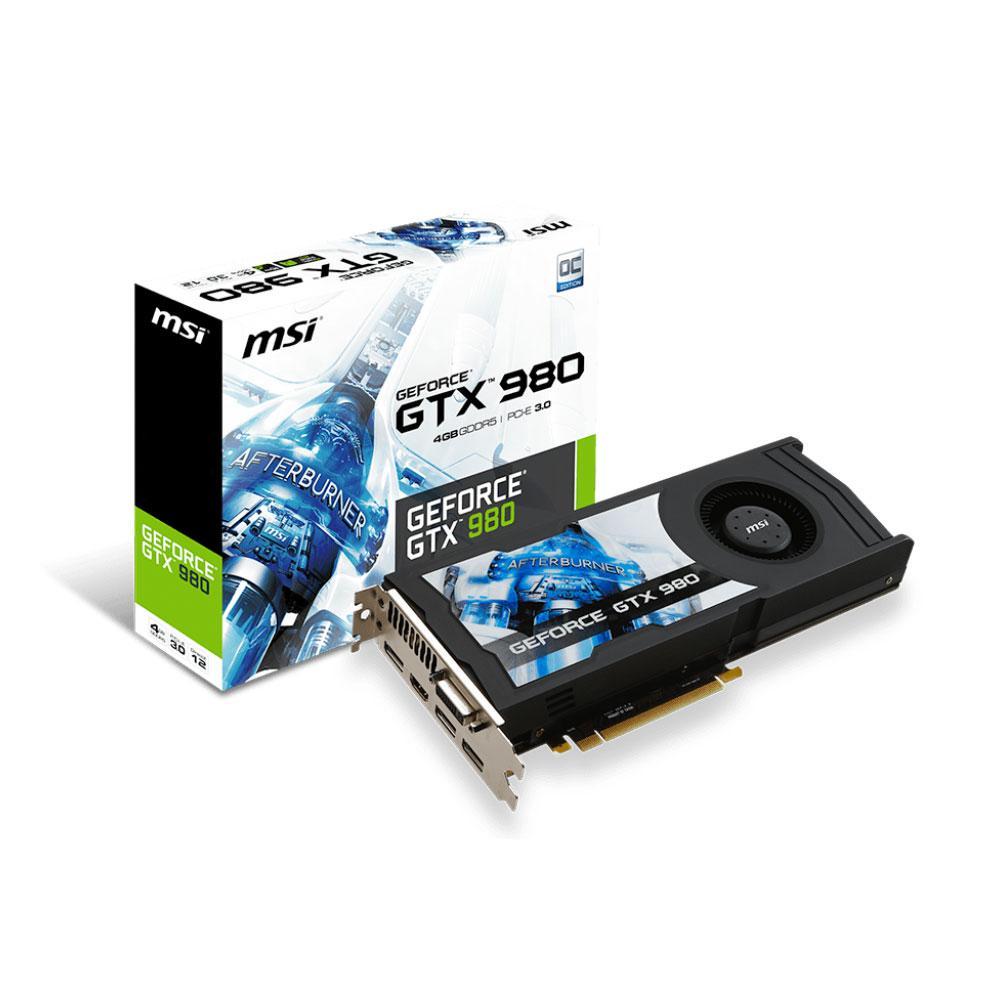 Carte graphique MSI GeForce GTX 980 4Go DDR5 (+ 2 bons d'achat de 61,12€)