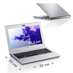 PC Portable Sony VAIO T13  avec Intel CoreTM i3-2367M, 128 Go SSD - Reconditionné