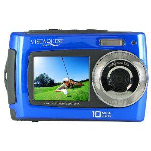 """Vistaquest VQ-1027 Appareil photo numérique étanche 2 écrans 2,7"""" devant et derrière 16 Mo 10 MP Bleu"""