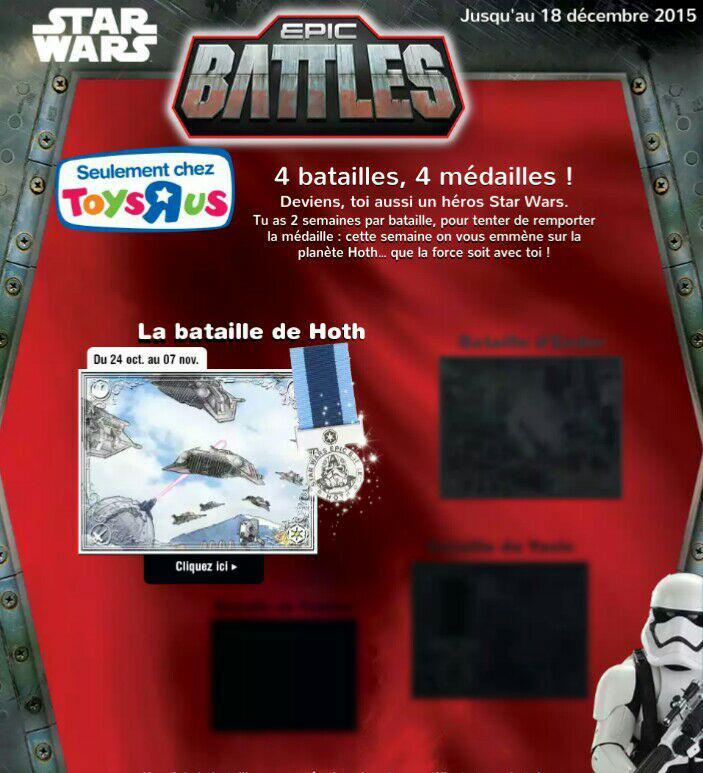 4 médailles Star Wars offertes