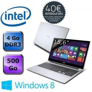Ordinateur portable Acer Aspire V5-531-887B4G50Mass  Intel Celeron 887, 4go de ram avec ODR (40€)