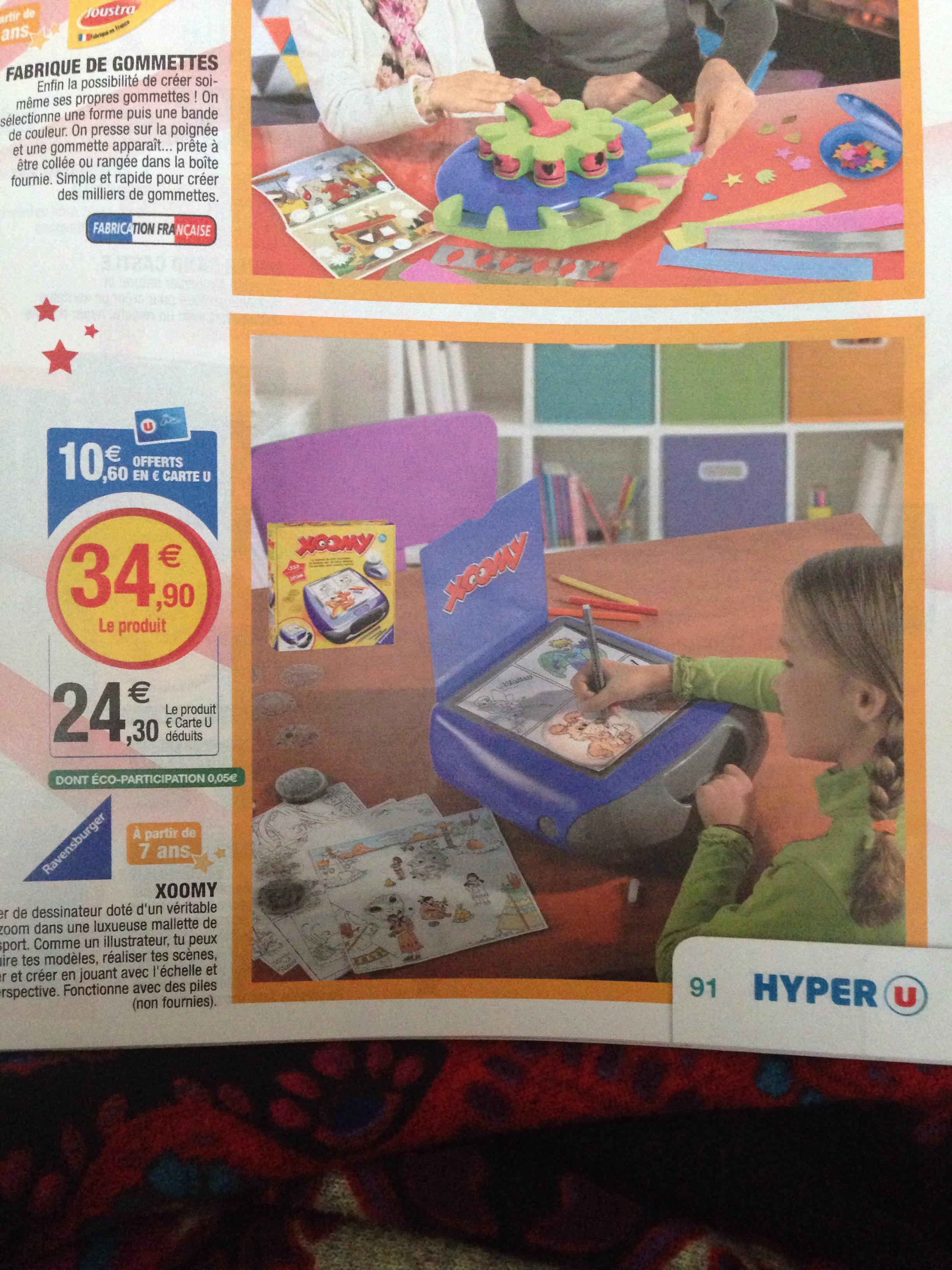 """2 mallettes de jeux Xoomy """"L'atelier de dessinateur"""" (via ODR de 33,90€ + 21,20€ compte fidélité + 10€ de bon d'achat)"""