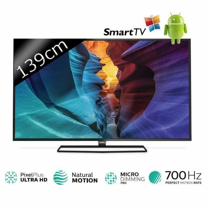 "TV LED 4K 55"" Philips 55PUH6400 Smart TV"