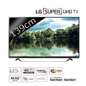 "TV 55"" LG 55UF850V Smart TV LED UHD 4K 3D (via ODR 150€)"
