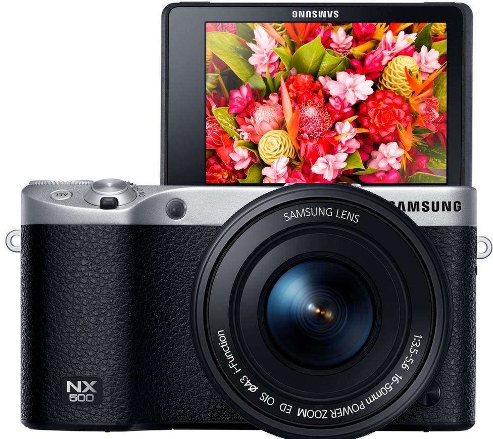 Appareil photo hybride Samsung NX500 4K 28 Mpix - Kit blanc + Objectif 16-50mm stabilisé