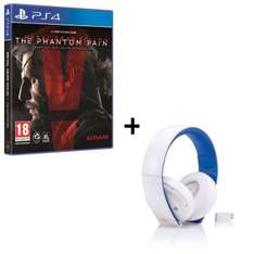 Metal Gear Solid V : The Phantom Pain sur PS4 + Casque Sony Wireless Stereo 2.0