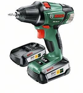 Coffret de Perceuse-visseuse sans fil  Bosch PSR 18 Li-2 060397330H avec 2 batteries 2.5 ah