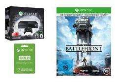 Pack Console Microsoft Xbox One 1To + Rise of the Tomb Raider + Tomb Raider Definitive Edition + Star Wars Battlefront (Précommande) + 3 mois de Xbox Live