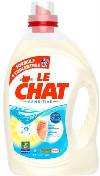 Lessive liquide Le Chat 40 lavages (avec 4.73€ sur la carte)