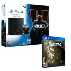 Pack Console Sony PS4 1 To Noire + Call of Duty Black Ops III + Fallout 4