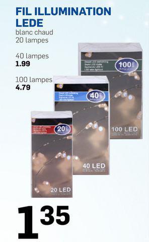 guirlande led couleur blanc chaud 20, 40 ou 100 leds