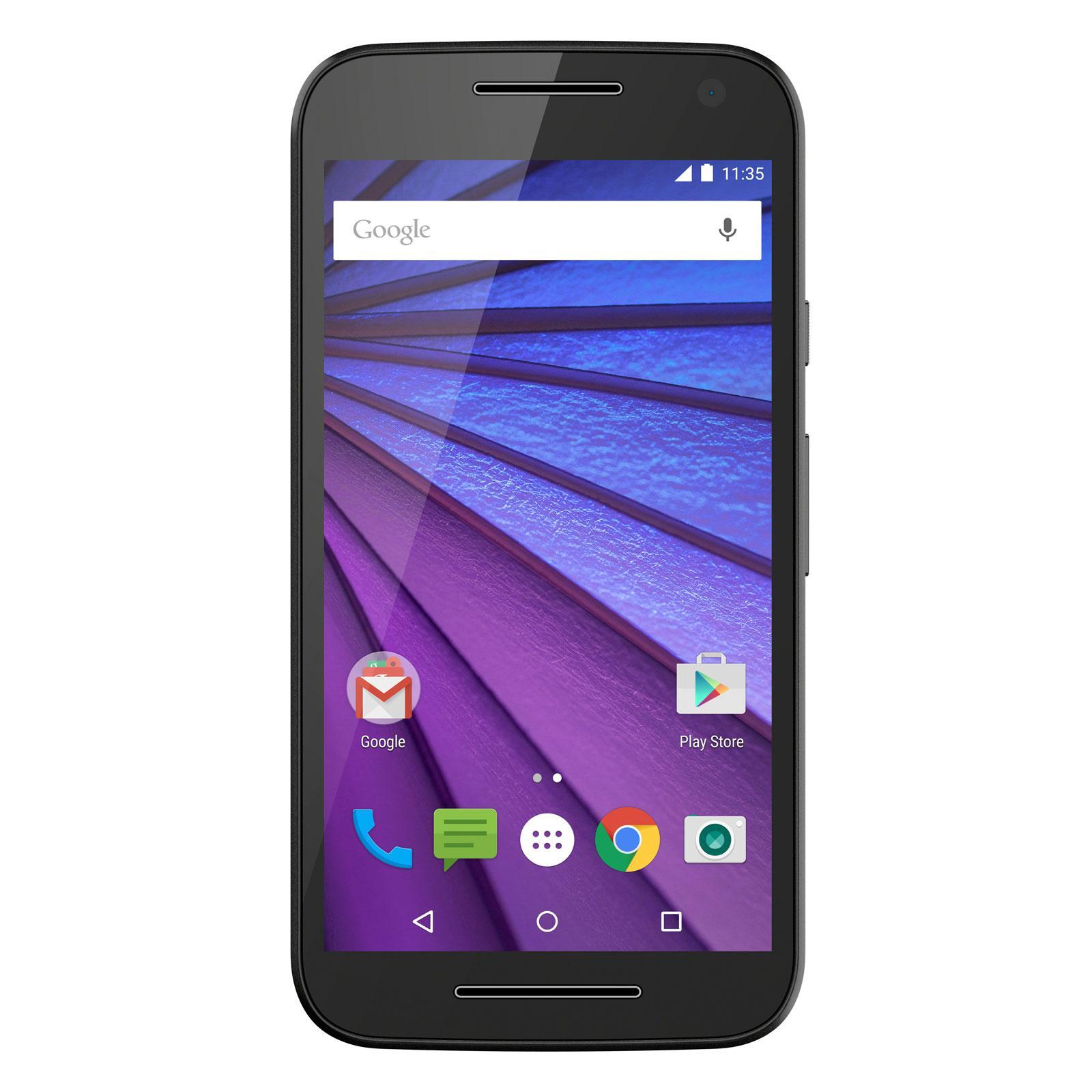 Smartphone 5'' Motorola G 3ème Génération 4G - 8 Go - Etanche IP67 (ODR de 30€)