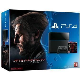 Pack console Sony PS4 500 Go + Metal Gear Solid 5 + PES 16 + 20€ en bon d'achat