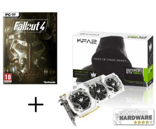 Carte graphique GeForce GTX 980Ti HOF 6GB + Fallout 4 + Jeux Nvidia offert (Assasins Creed Syndicate ou Rainbow 6 Siege)
