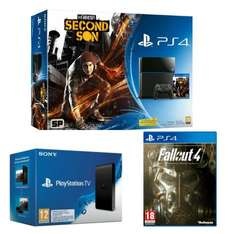 Console PS4 500 Go inFamous Second Son + Playstation TV + Fallout 4
