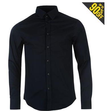 Chemise pour homme Versace Collection Woven noire