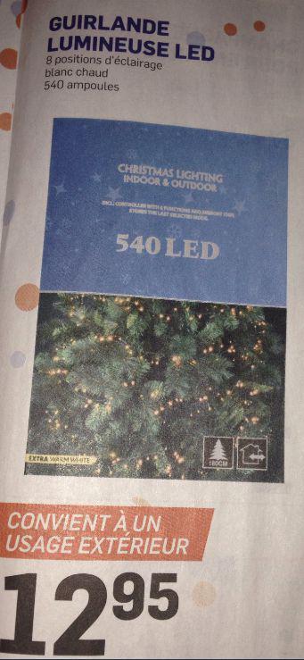 Guirlande lumineuse 540 LED